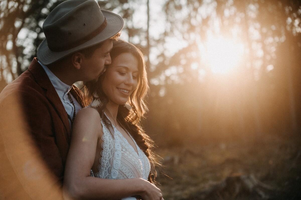 Gegen die Sonne - Boho Hochzeit